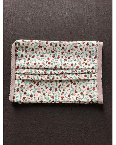 "Masque Tissu 100% coton 3 plis avec insert : ""Fleuri Liberty"""