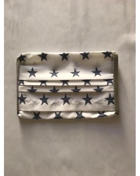 "Masque Tissu 100% coton 3 plis avec insert : ""Moriak Stars"""