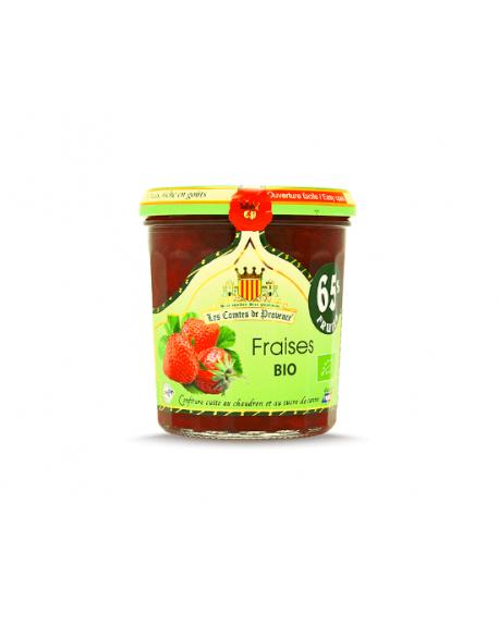 Confiture Bio de Fraises au Chaudron 65% de Fruits Les Comtes de Provence 750g